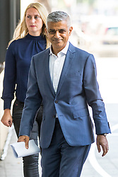© Licensed to London News Pictures. 15/07/2018. London, UK. Mayor of London Sadiq Khan arriving at BBC Broadcasting House to appear on The Andrew Marr Show this morning. . Photo credit : Tom Nicholson/LNP© Licensed to London News Pictures. 15/07/2018. London, UK. British Prime Minister Theresa May arriving at BBC Broadcasting House to appear on The Andrew Marr Show this morning. Earlier this week May held talks with the President of the United States, Donald Trump, on his visit to the UK. Photo credit : Tom Nicholson/LNP