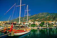 Harbor, Kalkan, on the Turquoise Coast, Turkey