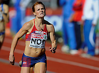 Friidrett<br /> 19. juni 2010<br /> Fana Stadion , Bergen , Norway<br /> European team championships<br /> 400 m hurdles Woman<br /> Stine Tomb , NOR<br /> Foto : Astrid M. Nordhaug