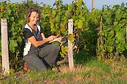 Odile Melinon, winemaker owner. Domaine Melinon, Morgon, Beaujolais, France