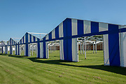 Henley on Thames. United Kingdom.  Regatta Competitors boat tent partially erected.<br /> <br /> Thursday  17/05/2018<br /> <br /> [Mandatory Credit: Peter SPURRIER:Intersport Images]<br /> <br /> LEICA CAMERA AG  LEICA Q (Typ 116)  f5  1/1000sec  35mm  42.5MB