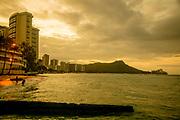 Sunrise, Diamond Head, Waikiki, onolulu, Oahu, Hawaii