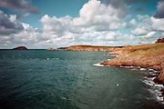 Frankrijk, Rhoteneuf, 7-9-2005De ruige Bretonse kust, uitzicht op zee.Foto: Flip Franssen/Hollandse Hoogte