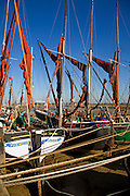 Historic old sailing boats, Hythe quay, Maldon, Essex, England