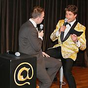NLD/Hilversum/20110208 - Prins Willem Alexander aanwezig bij de Gouden Apenstaarten 2011,