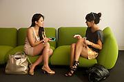 TERI YAEGASHI; MARIKA SHISHIDO, Design Miami/ Collectors preview, Miami Beach. 30 November 2010. -DO NOT ARCHIVE-© Copyright Photograph by Dafydd Jones. 248 Clapham Rd. London SW9 0PZ. Tel 0207 820 0771. www.dafjones.com.