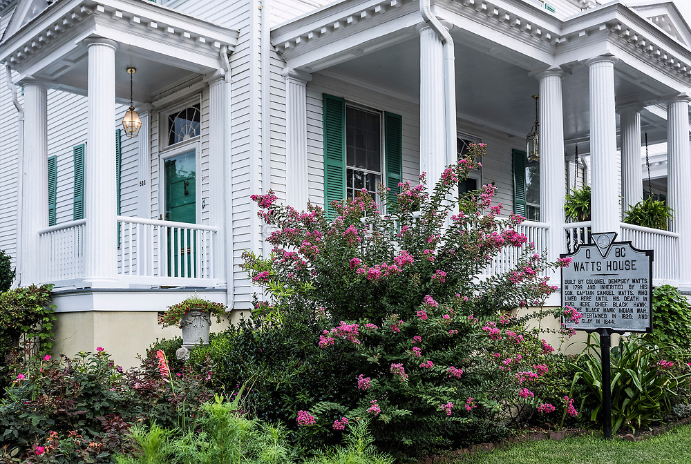 Historic Watts House, Portsmouth, Virginia, USA.