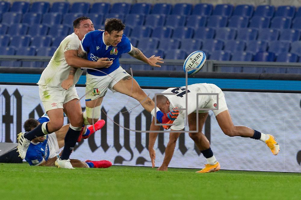 Guinness 6 Nations 2020, Stadio Olimpico  Roma, Italy  31/10/2020<br /> Italy vs England<br /> <br /> <br /> Matteo Minozzi