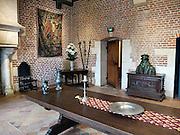 Frankrijk, Amboise, 31-8-2013La Maison Clos Luce bij het kasteel Amboise, woning van Leonardoi Da Vinci. Zijn buste staat op de kist. Hij is op het terrein van het chateau begraven en zijn resten zijn herbegraven in de kapel die ook naast het kasteel ligt.The Chateau du Clos Luce, the official residence of Leonardo da Vinci.Foto: Flip Franssen/Hollandse Hoogte