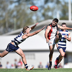 BRISBANE, AUSTRALIA - SEPTEMBER 26:  during the QAFL Senior Mens Grand Final match between Broadbeach Cats and Morningside Panthers at Leyshon Park on September 26, 2020 in Brisbane, Australia. (Photo by Patrick Kearney)