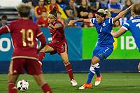 Spain's Veronica Boquete and Finland's Annika kukkonen during the match of  European Women's Championship 2017 at Leganes, between Spain and Finland. September 20, 2016. (ALTERPHOTOS/Rodrigo Jimenez)