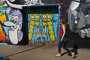 Street art owls by Dscreet in Hackney Wick, East London, United Kingdom. Street art in the East End of London is an ever changing visual enigma, as the artworks constantly change, as councils clean some walls or new works go up in place of others. While some consider this vandalism or graffiti, these artworks are very popular among local people and visitors alike, as a sense of poignancy remains in the work, many of which have subtle messages. (photo by Mike Kemp/In Pictures via Getty Images)