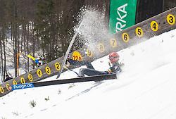 23.03.2013, Planica, Kranjska Gora, SLO, FIS Ski Sprung Weltcup, Skifliegen, Team, Probedurchgang, im Bild Sturz von Andreas Wellinger (GER) // Crash from Andreas Wellinger of Germany during his trial jump of the FIS Skijumping Worldcup Team Flying Hill, Planica, Kranjska Gora, Slovenia on 2013/03/23. EXPA Pictures © 2012, PhotoCredit: EXPA/ Juergen Feichter