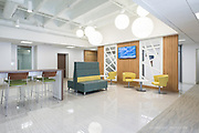 Commercial office building tenant lounge. Commercial real estate photography by Jason Jones