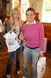 EVA RICE daughter of Sir Tim Rice and the HON.EDWARD SACKVILLE at a party to celebrate the publication of Wicked - A Tale of Two Schools by Jilly Cooper held at Westminster School, Dean's Yard, London on 11th May 2006.<br /><br />NON EXCLUSIVE - WORLD RIGHTS