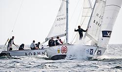 Bruni vs Ainslie. Danish Open 2010, Bornholm, Denmark. World Match Racing Tour. photo: Loris von Siebenthal - myimage