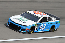 March 1, 2019 - Las Vegas, NV, U.S. - LAS VEGAS, NV - MARCH 01: Bubba Wallace (43) Richard Petty Motorsports (RPM) Chevrolet Camaro ZL1 drives through turn four during practice for the Monster Energy NASCAR Cup Series 22nd Annual Pennzoil 400 on March 1, 2019, at the Las Vegas Motor Speedway in Las Vegas, Nevada. (Photo by Michael Allio/Icon Sportswire) (Credit Image: © Michael Allio/Icon SMI via ZUMA Press)