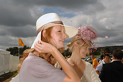 Left to right, OLIVIA INGE and ALEXIA INGE at the final of the Veuve Clicquot Gold Cup 2007 at Cowdray Park, West Sussex on 22nd July 2007.<br /><br />NON EXCLUSIVE - WORLD RIGHTS