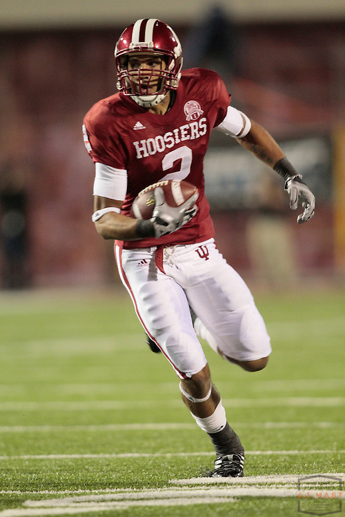 03 October 2009: Indiana wide receiver Tandon Doss (2) as the Indiana Hoosiers played the Ohio State Buckeyes in a college football game in Bloomington, Ind.