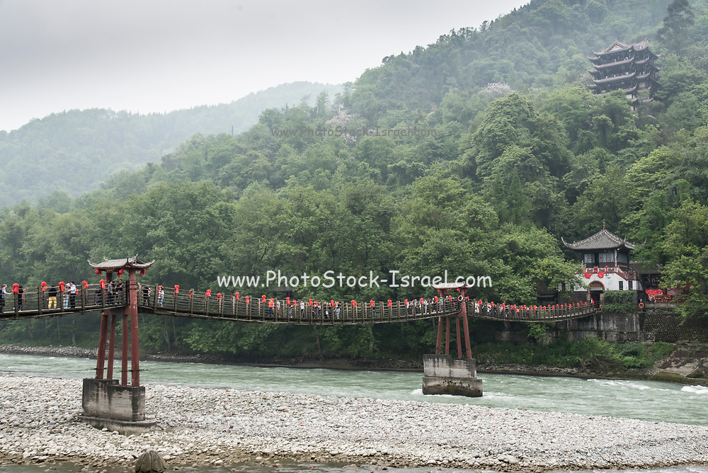 Dujiangyan is an ancient irrigation system in Dujiangyan City, Sichuan, China. Originally constructed around 256 BC by the State of Qin as an irrigation and flood control project, it is still in use today.