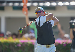 January 10, 2019 - Honolulu, HI, U.S. - HONOLULU, HI - JANUARY 10: Hideki Matsuyama of Japan tees off on the 10th hole during the first round of the Sony Open on January 10, 2019, at the Waialae Counrty Club in Honolulu, HI. (Photo by Darryl Oumi/Icon Sportswire) (Credit Image: © Darryl Oumi/Icon SMI via ZUMA Press)