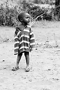 TANZANIA. Longido Mountain Area..August 3rd 2009..A Maasai kid.