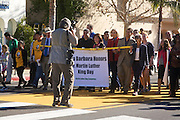"""20 January 2014-Santa Barbara, CA: """"Lift Every Voice"""", Santa Barbara Honors Dr. Martin Luther King Day with a Pre March Rally at City Hall in Santa Barbara, California.  After the rally, marchers proceeded to the Arlington Theatre for a celebration program by the MLK Jr.Committee of Santa Barbara.  Photo Credit: Rod Rolle"""