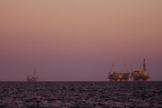 Oil Derrick, Catalina Channel, California, USA
