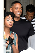 Willow Smith - Will Smith leaving the show hidden behind the door of the Grand Palais - Chanel Show - Paris Fashion Week Haute Couture 2016/2017 -<br /> ©Exclusivepix Media