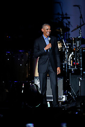 Chance the Rapper was on hand to perform at the Barack Obama Foundation Summit in Chicago. 01 Nov 2017 Pictured: Barack Obama. Photo credit: MEGA TheMegaAgency.com +1 888 505 6342