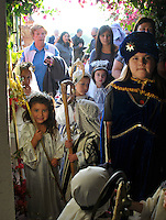 """In a pre-Christmas tradition which began in 1957, the Jimenez family of Castroville put on their annual """"posada,"""" with friends, family and guests celebrating the holiday season together on Dec. 15th. Posada"""" means """"inn"""" in Spanish, and for this occasion, children dressed as Biblical figures reenacted Mary and Joseph's search for shelter during their Biblical journey from Nazareth to Bethlehem. Moving from house to house, the """"peregrinos,"""" or pilgrims, trade touching verses in song with the """"hosteleros,"""" the innkeepers, inside, until at last, shelter is found."""