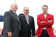 10 October 2013: Sporting Kansas City owner Cliff Illig (left), Hank Steinbrecher (center), and Eric Wynalda (right). The 2013 National Soccer Hall of Fame Induction Ceremony was held on the West Plaza outside Sporting Park in Kansas City, Kansas.