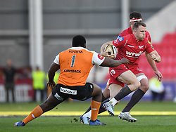 Scarlets Tom Prydie<br /> <br /> Photographer Mike Jones/Replay Images<br /> <br /> Guinness PRO14 Round 22 - Scarlets v Cheetahs - Saturday 5th May 2018 - Parc Y Scarlets - Llanelli<br /> <br /> World Copyright © Replay Images . All rights reserved. info@replayimages.co.uk - http://replayimages.co.uk