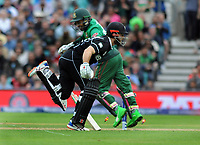 Cricket - 2019 ICC Cricket World Cup - Group Stage: Bangladesh vs. New Zealand<br /> <br /> Kane Williamson of NZ thinks he has been run out, but the wicket keeper, Litton Kumer Das hit the stumps with his arm before the ball, at Kia Oval.<br /> <br /> COLORSPORT/ANDREW COWIE