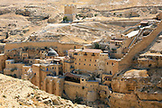 Israel, Judaea Desert, Wadi Kidron, The Great Lavra of St. Sabas (also Mar Saba) is a Greek Orthodox monastery overlooking the Kidron Valley in the West Bank east of Bethlehem. (northern Judea desert)  It was founded in the year 439 by saint Sabas. It has been an active monastery since than, and still maintains many of its ancient traditions.
