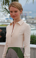 Actress Mia Wasikowska at the photo call for the film Maps To The Stars at the 67th Cannes Film Festival, Monday 19th May 2014, Cannes, France.