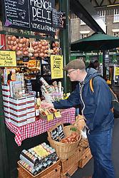 French deli, Borough market, London UK Mrach 2019