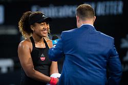 January 1, 2019 - Brisbane, AUSTRALIA - Naomi Osaka of Japan celebrates winning her second-round match at the 2019 Brisbane International WTA Premier tennis tournament (Credit Image: © AFP7 via ZUMA Wire)
