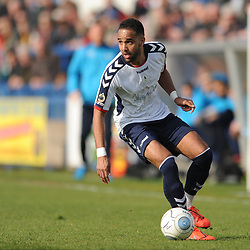 TELFORD COPYRIGHT MIKE SHERIDAN 30/3/2019 - Brendon Daniels of AFC Telford during the Vanarama National League North fixture between AFC Telford United and Blyth Spartans at the New Bucks Head.
