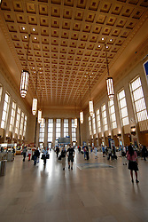 AMTRAK station hall in Philadelphia..Philadelphia, Pennsylvania, PA USA.  Photo copyright Lee Foster, 510-549-2202, lee@fostertravel.com, www.fostertravel.com.  Photo 352-30730.