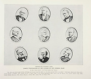 """THE JUSTICES OF THE SUPREME COURT from The American Civil War book and Grant album : """"art immortelles"""" : a portfolio of half-tone reproductions from rare and costly photographs designed to perpetuate the memory of General Ulysses S. Grant, depicting scenes and incidents in connection with the Civil War Published  in Boston and New York by W. H. Allen in 1894"""