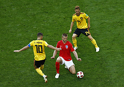 July 14, 2018 - Saint Petersburg, Russia - England v Belgium - Play off for third place final FIFA World Cup Russia 2018.Eric Dier (England) between Dries Mertens and Eden Hazard (Belgium) at Saint Petersburg Stadium in Russia on July 14, 2018. (Credit Image: © Matteo Ciambelli/NurPhoto via ZUMA Press)
