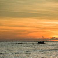 Fiji, Namotu Island, sunset view from island