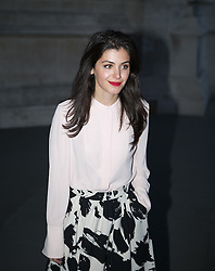 Wedding Dresses private view Arrivals.  Katie Melua arrives at the private view of new exhibition looking at how wedding dresses have changed over the years. Victoria & Albert Museum, London, United Kingdom. Wednesday, 30th April 2014. Picture by Daniel Leal-Olivas / i-Images