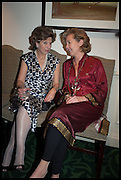 HON MRS. CAROLINE STANLEY; ANDRENA WOODHAM, The hon Alexandra Foley hosts drinks to introduce ' Lady Foley Grand Tour' with special guest Julian Fellowes. the Sloane Club. Lower Sloane st. London. 14 May 2014