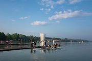Plovdiv, Bulgaria, 10th May 2019, FISA, Rowing World Cup 1,  Boat Park area, General Views,  Chinese Crews Boating,<br /> [© Peter SPURRIER]