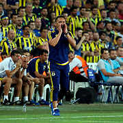 Fenerbahce's headcoach Vitor Pereira during their UEFA Champions league third qualifying round first leg soccer match Fenerbahce between Shakhtar Donetsk at the Sukru Saracaoglu stadium in Istanbul Turkey on Tuesday 28 July 2015. Photo by Aykut AKICI/TURKPIX