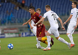 October 2, 2018 - Rome, Italy - Lorenzo Pellegrini during the UEFA Champions League match group G between AS Roma and Viktoria Plzen at the Olympic stadium on october 02, 2018 in Rome, Italy. (Credit Image: © Silvia Lore/NurPhoto/ZUMA Press)