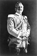 Wilhelm II (1859-1941) Emperor of Germany 1888-1918. Three-quarter lenth image of Wilhelm (William) in military  uniform, hand on sword hilt.