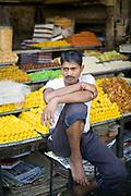 A sweet vendor in the Bapu bazaar, Jaipur, India
